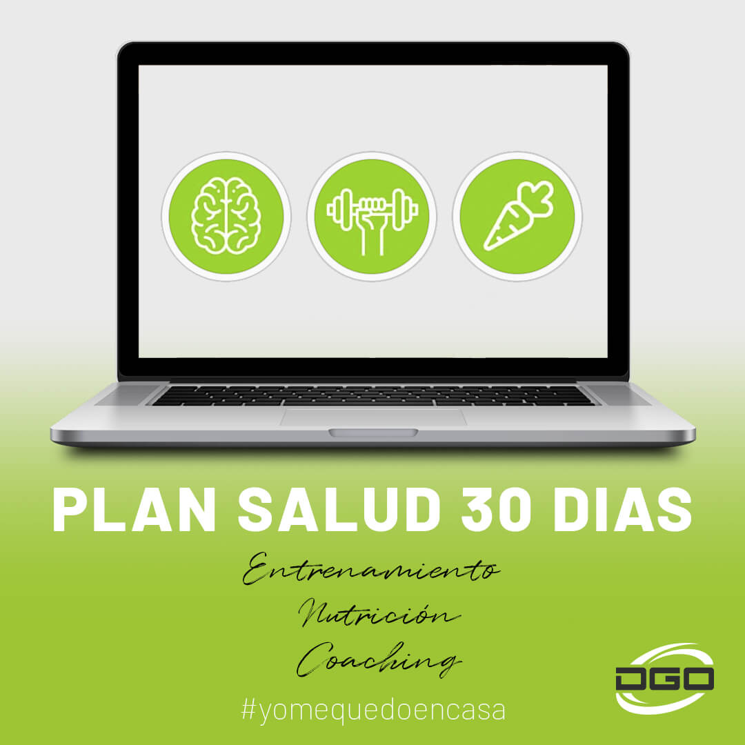 Cartel Plan salud 30 días entrenamiento online